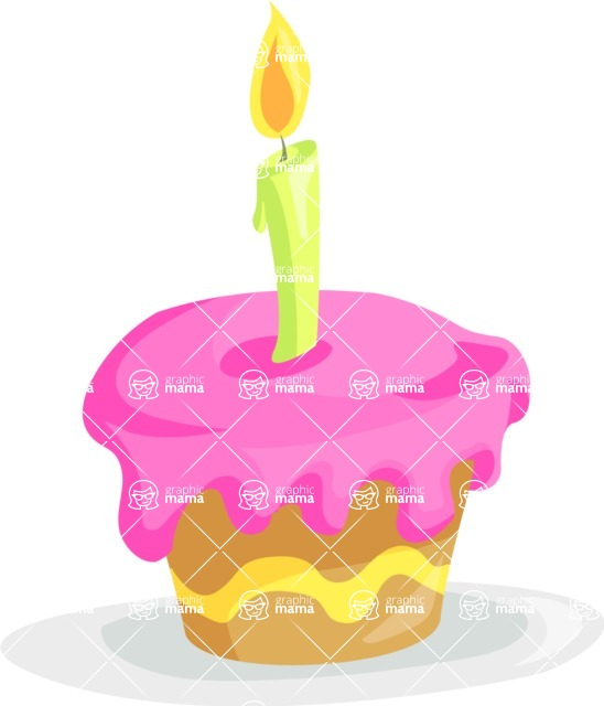 Party Vectors - Mega Bundle - Birthday Cupcake