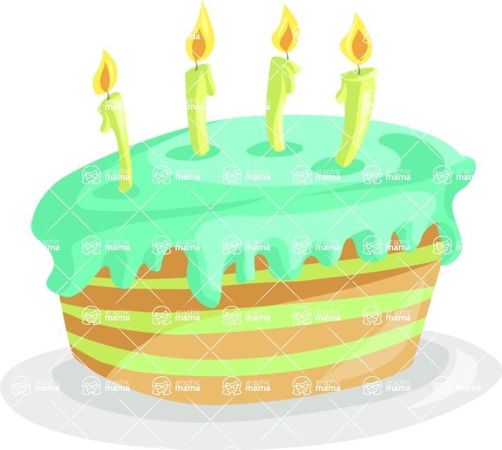Party Vectors - Mega Bundle - Cake with Candles