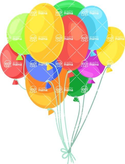Party Vectors - Mega Bundle - Bunch of Balloons