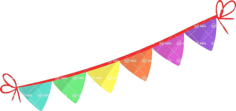 Party Vectors - Mega Bundle - Colorful Banner Flags 1