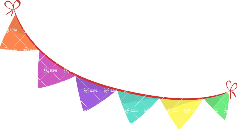 Party Vectors - Mega Bundle - Colorful Banner Flags 2