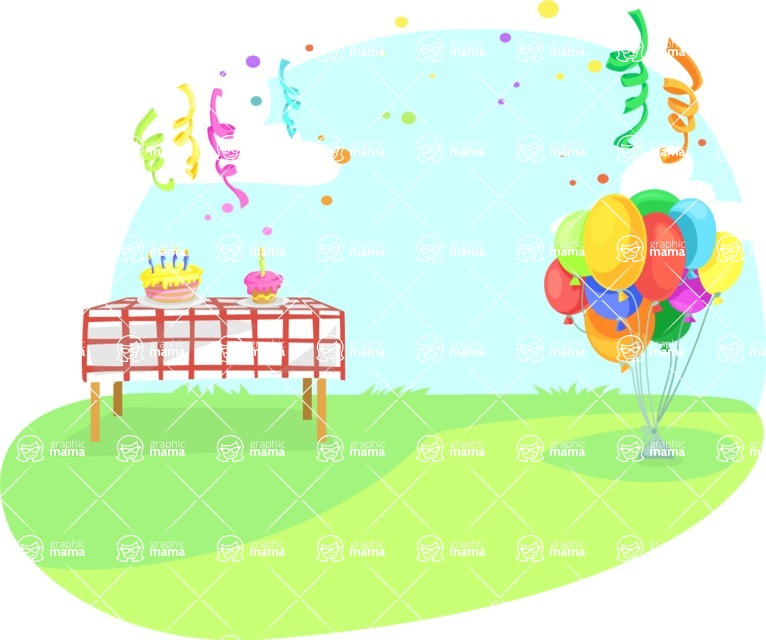 Party Vectors - Mega Bundle - Outdoor Party With Balloons