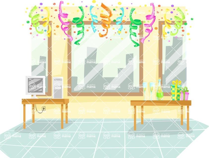 Party Vectors - Mega Bundle - Office Party Decoration