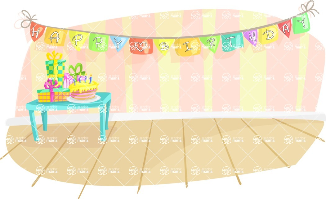 Happy Birthday Room Decoration Graphicmama Graphicmama