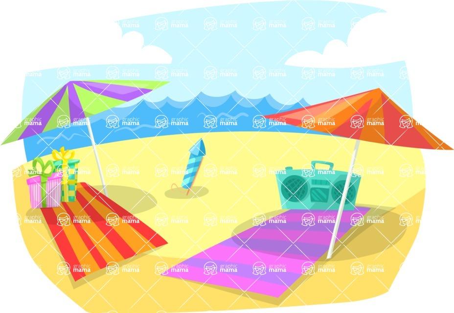 Party Vectors - Mega Bundle - Beach Party Background