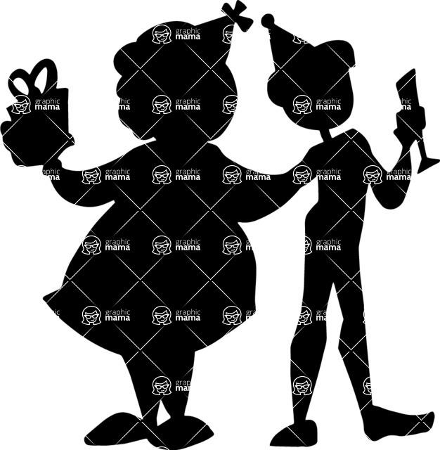 Party Vectors - Mega Bundle - Woman and Man at Party