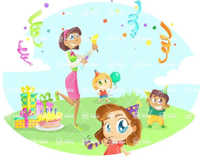Party Vectors - Mega Bundle - Outdoor Kids Birthday Party