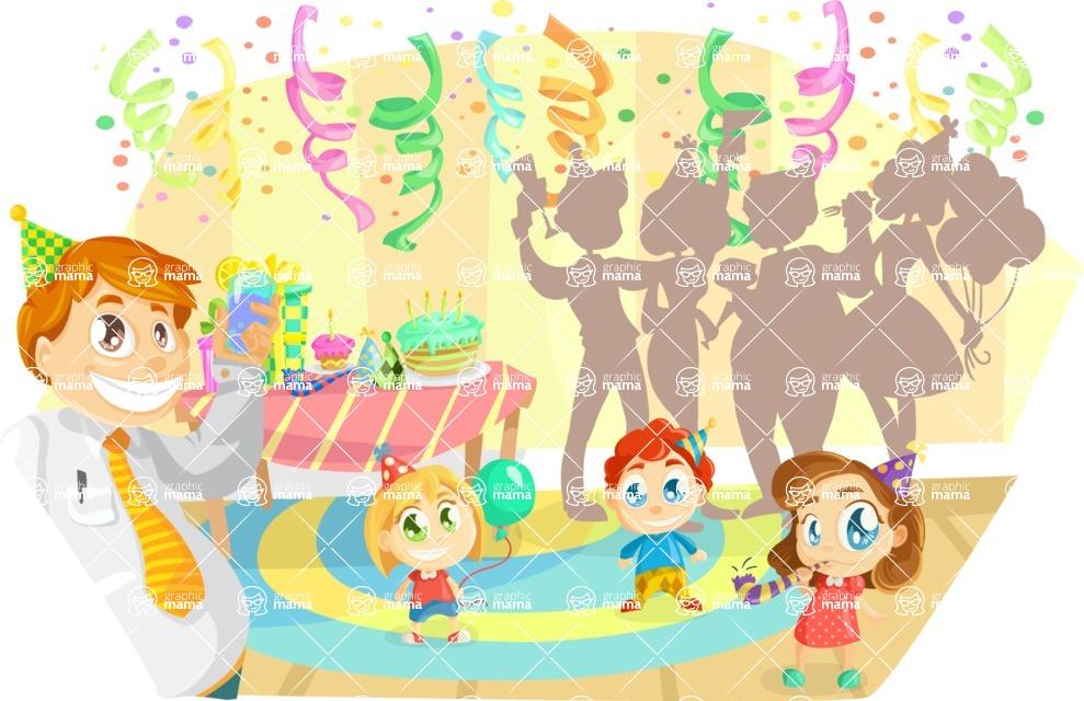Party Vectors - Mega Bundle - Birthday Party at Home