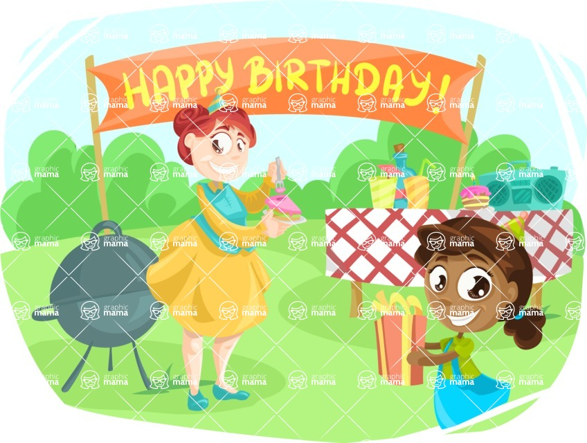 Party Vectors - Mega Bundle - Birthday Barbecue Party