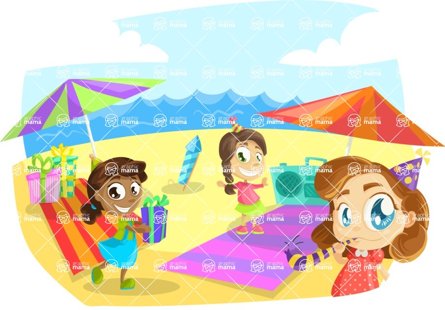 Party Vectors - Mega Bundle - Kids Party at the Beach
