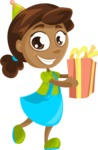 Party Vectors - Mega Bundle - Birthday Girl with Present
