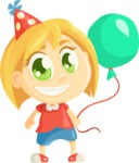 Party Vectors - Mega Bundle - Party Kid with a Balloon
