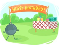 Party Vectors - Mega Bundle - Outdoor Birthday Party