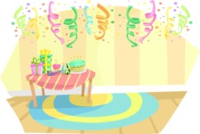 Party Vectors - Mega Bundle - Room With Party Decoration