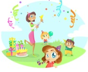 Party Vectors - Mega Bundle - Outdoor Kids Birthday Party