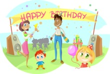 Party Vectors - Mega Bundle - Birthday Summer Party