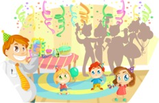 Party Vectors - Mega Bundle - Birthday Party at Home