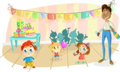 Party Vectors - Mega Bundle - Kids Birthday Party With Dad