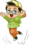 Chibi Boy Jumping