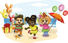 Kids Birthday Beach Party