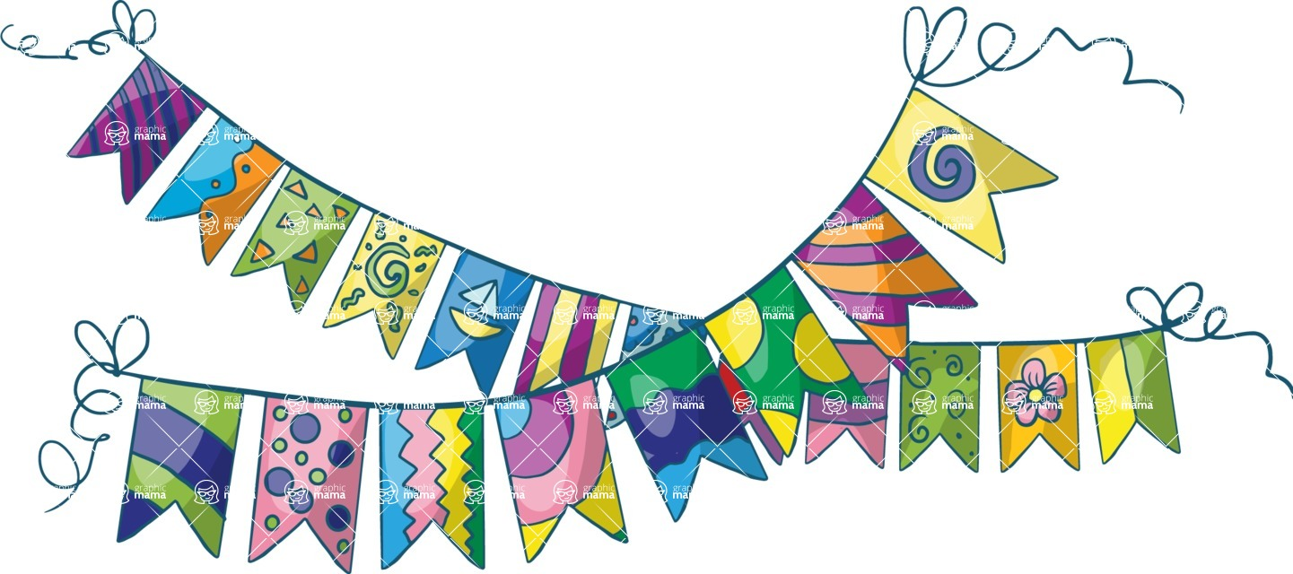 Birthday Vectors - Mega Bundle - Party Flags