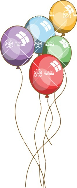 Birthday Vectors - Mega Bundle - Colorful Balloons