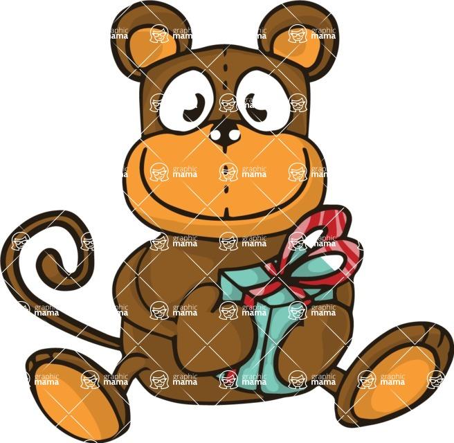 Birthday Vectors - Mega Bundle - Monkey Doll Illustration