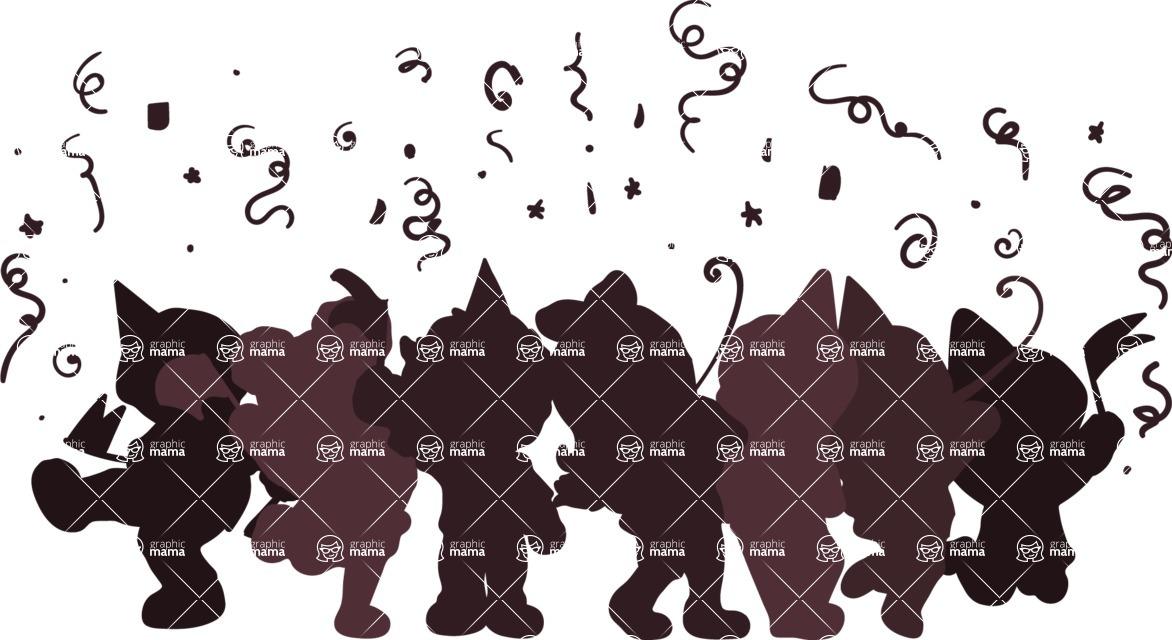 Birthday Vectors - Mega Bundle - Children's Party Silhouette