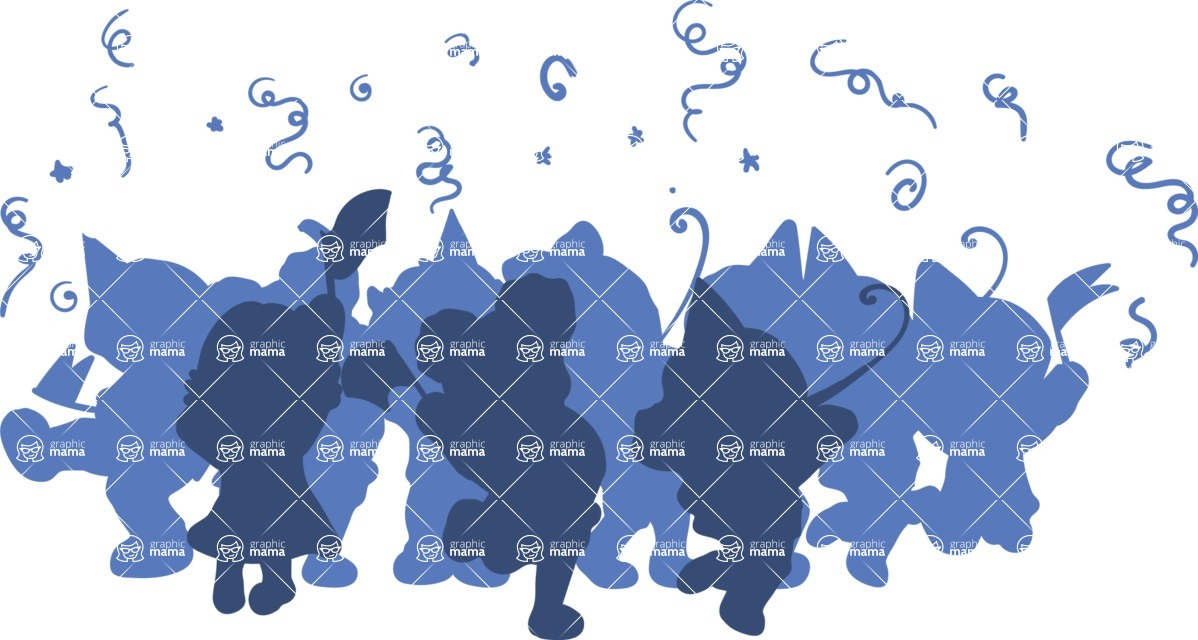 Birthday Vectors - Mega Bundle - Kids Party Silhouette