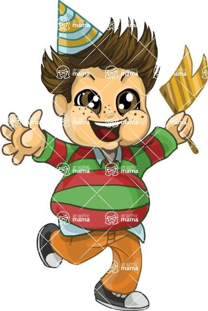 Birthday Vectors - Mega Bundle - Chubby Boy Running