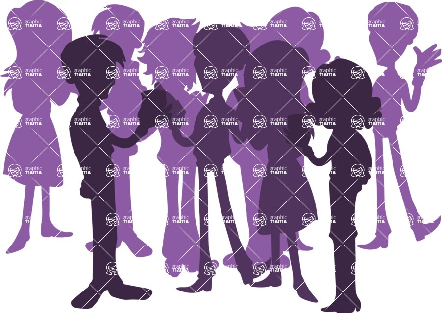 Birthday Vectors - Mega Bundle - People Crowd Silhouette