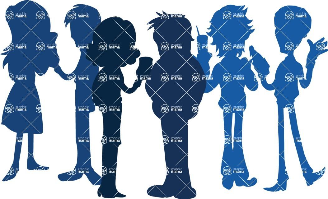 Birthday Vectors - Mega Bundle - People Silhouettes