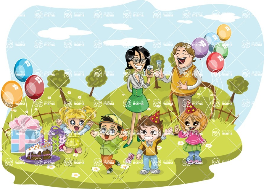 Birthday Vectors - Mega Bundle - Birthday Party Outdoors