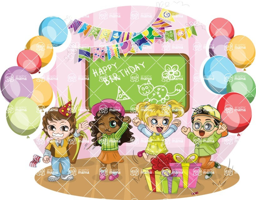 Birthday Vectors - Mega Bundle - Children's Birthday Party