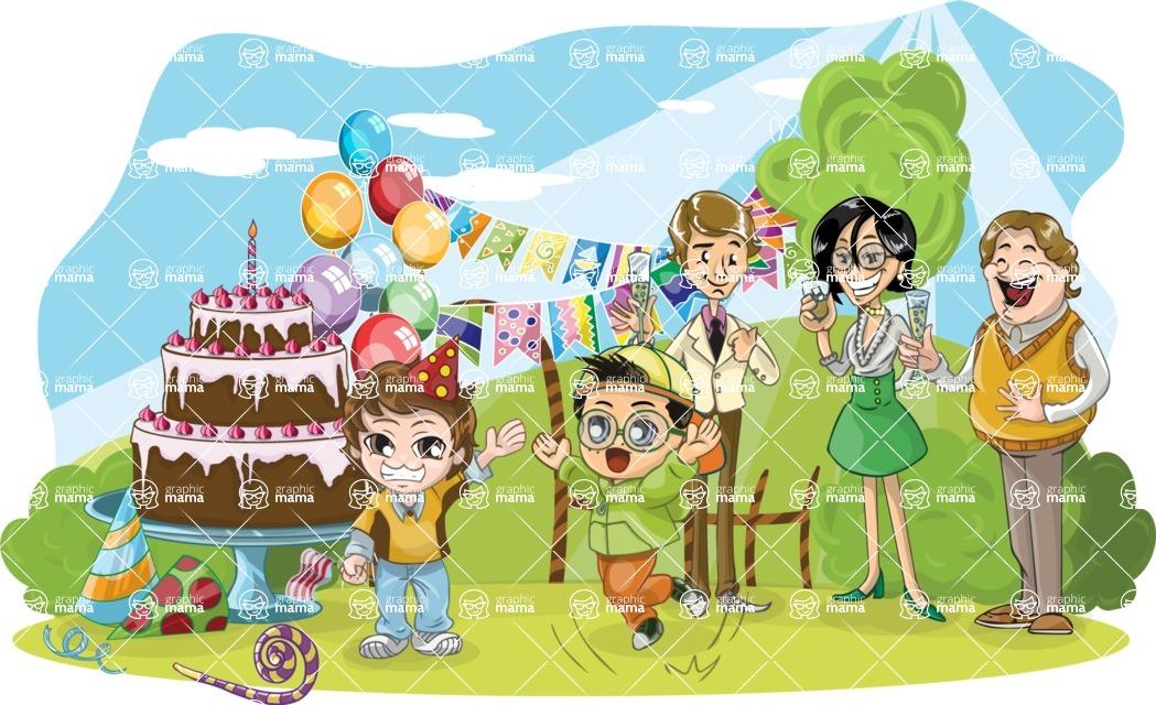 Birthday Vectors - Mega Bundle - Birthday Party in Nature