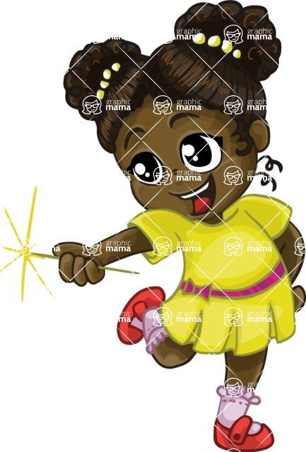 Birthday Vectors - Mega Bundle - Cute African American Girl