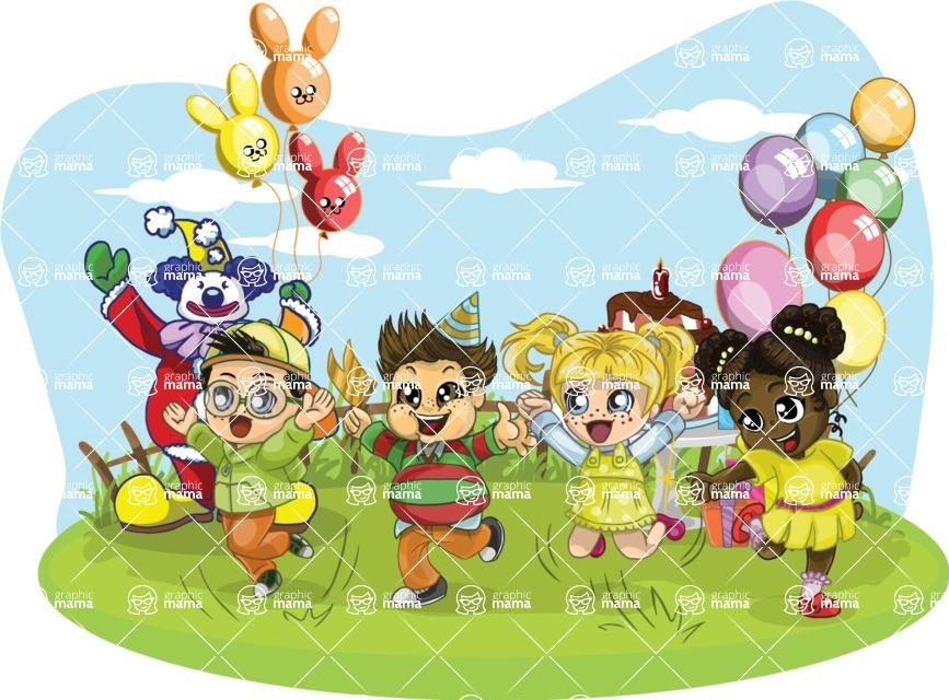 Birthday Vectors - Mega Bundle - Kids Party with a Clown