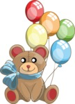 Birthday Vectors - Mega Bundle - Teddy Bear and Balloons