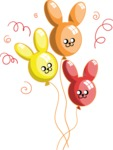 Birthday Vectors - Mega Bundle - Bunny Balloons