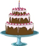 Birthday Vectors - Mega Bundle - Cake on a Cake Stand