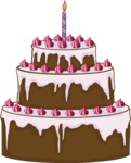Birthday Vectors - Mega Bundle - Birthday Cake