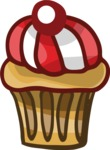 Birthday Vectors - Mega Bundle - Cupcake with a Cherry
