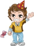 Birthday Vectors - Mega Bundle - Party Boy Waving