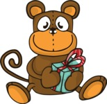 Birthday Vectors - Mega Bundle - Monkey Doll Illustration