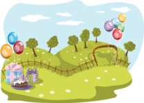 Birthday Vectors - Mega Bundle - Birthday Party Setting Outdoors