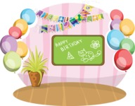 Birthday Vectors - Mega Bundle - Birthday Decoration in a Room