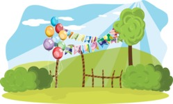 Birthday Vectors - Mega Bundle - Outdoor Birthday Party Decoration