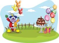 Birthday Vectors - Mega Bundle - Birthday Party Setup and Clown