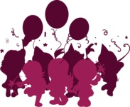 Birthday Vectors - Mega Bundle - Children's Birthday Party Silhouette