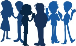 Birthday Vectors - Mega Bundle - People Silhouettes